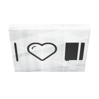 I Heart Carrying Notebooks Gallery Wrapped Canvas