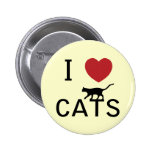 i heart cats 6 cm round badge