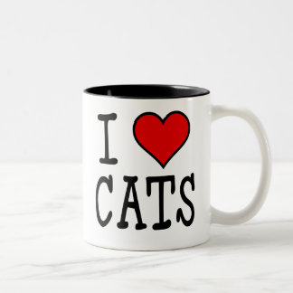 I Heart Cats Two-Tone Mug