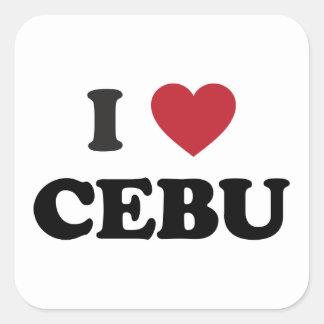 I Heart Cebu Philippines Square Sticker