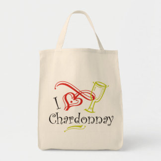 I Heart Chardonnay Tote Bag