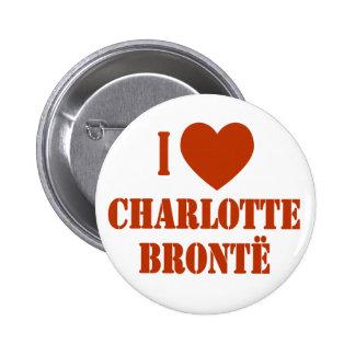 I Heart Charlotte Bronte 6 Cm Round Badge