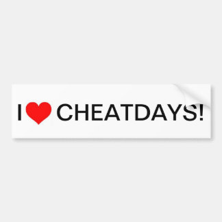 I heart cheatdays bumpersticker bumper sticker