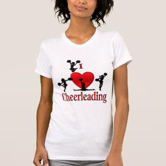 I Heart Cheerleading Personalized T Shirt