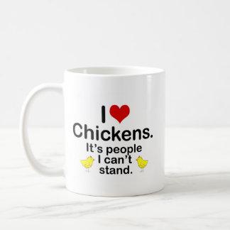 I (Heart) Chickens Basic White Mug