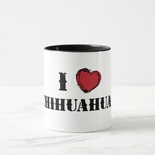 I (heart) Chihuahuas mug