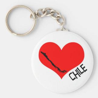 I heart Chile keychain