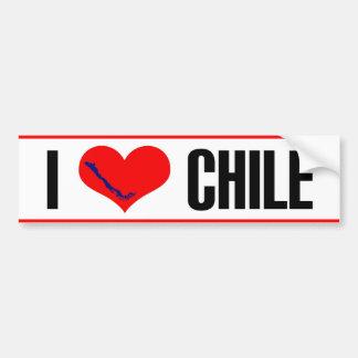 I heart Chile sticker. Bumper Sticker