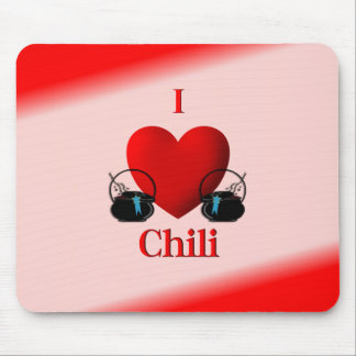 I Heart Chili Mouse Pad