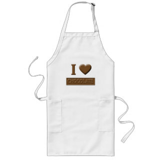 I Heart Chocolate Long Apron