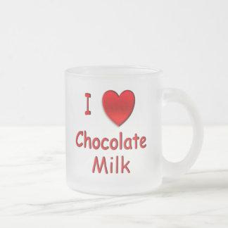 I Heart Chocolate Milk Frosted Mug