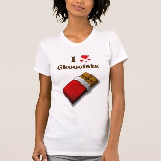 I Heart Chocolate with bar T-shirt