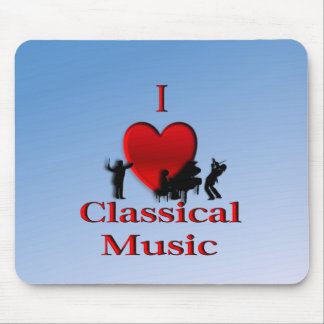 I Heart Classical Music Mousepads