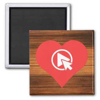 I Heart Clicking Square Magnet