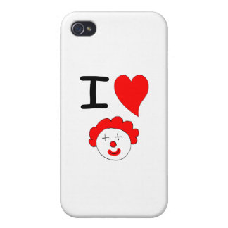 I Heart Clowns iPhone 4/4S Covers