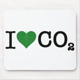 I Heart CO2 Mouse Mat