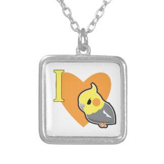 I Heart Cockatiels Custom Necklace