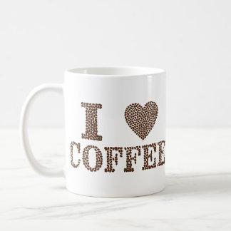 I Heart Coffee 11 oz Classic White Mug