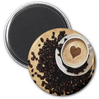 I Heart Coffee 6 Cm Round Magnet