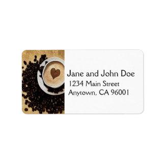 I Heart Coffee Address Label