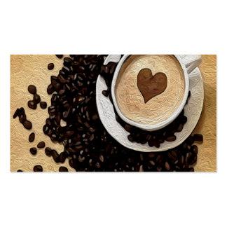 I Heart Coffee Business Card Templates