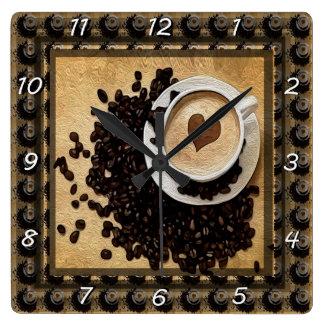 I Heart Coffee Clocks