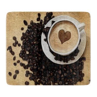 I Heart Coffee Cutting Board