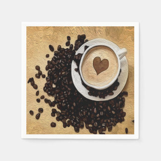 I Heart Coffee Disposable Napkins