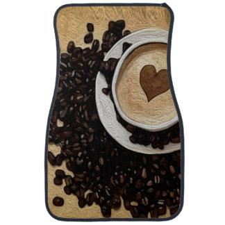 I Heart Coffee Floor Mat