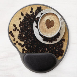 I Heart Coffee Gel Mouse Pad