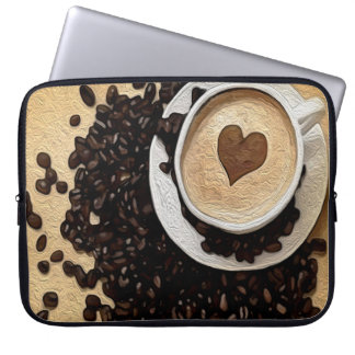 I Heart Coffee Laptop Sleeve