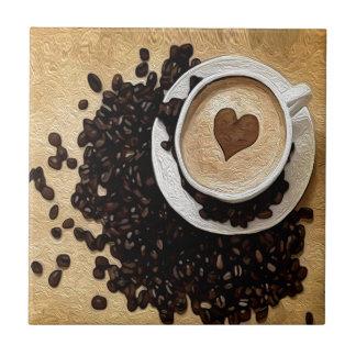 I Heart Coffee Tile