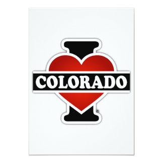 I Heart Colorado 13 Cm X 18 Cm Invitation Card