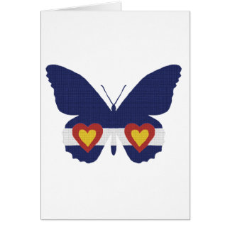 I Heart Colorado Flag Butterfly Products Greeting Card