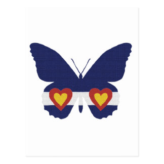 I Heart Colorado Flag Butterfly Products Postcard