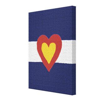 I Heart Colorado Flag Canvas Wall Art Stretched Canvas Print