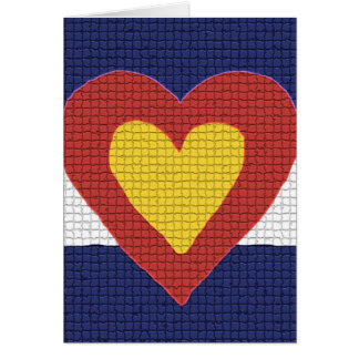 I heart Colorado Flag Products! Greeting Cards