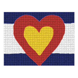 I heart Colorado Flag Products! Postcard