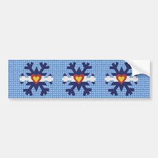 I Heart Colorado Flag Snowflake Bumper Sticker