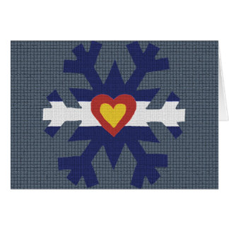 I Heart Colorado Flag Snowflake Greeting Cards