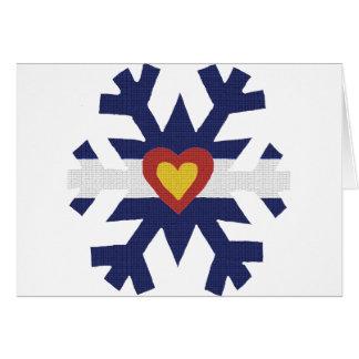 I Heart Colorado Flag Snowflake Cards