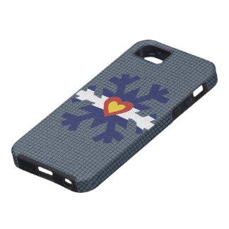 I Heart Colorado Flag Snowflake iPhone 5 Case