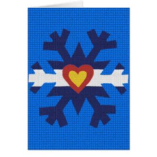 I Heart Colorado Flag Snowflake Greeting Card
