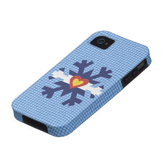I Heart Colorado Flag Snowflake Phone Cover iPhone 4 Cases
