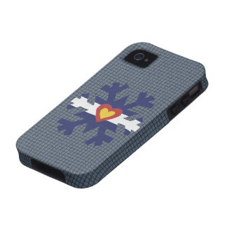 I Heart Colorado Flag Snowflake Phone Cover Case-Mate iPhone 4 Cases