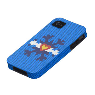 I Heart Colorado Flag Snowflake Phone Cover Case-Mate iPhone 4 Covers