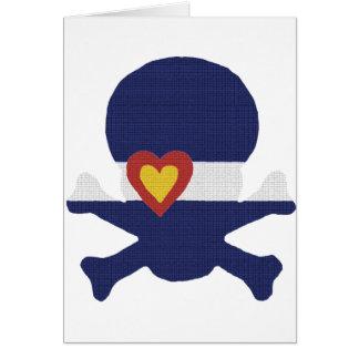 I Heart Colorado Skull Card