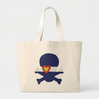 I Heart Colorado Skull! Large Tote Bag