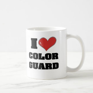 I heart colorguard coffee mug