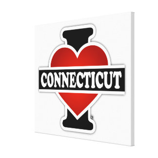 I Heart Connecticut Gallery Wrap Canvas